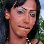 Perla lins. Ebony TS with a cruel cock!